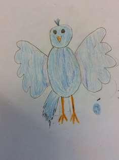 Teckning på fågel och isägg 5