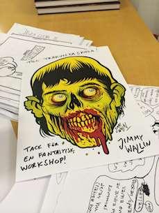 Bild på zombieteckning