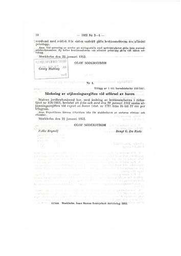 dokument ur arkivet angående kostnad för semor