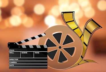 Bild på klapper och filmrulle