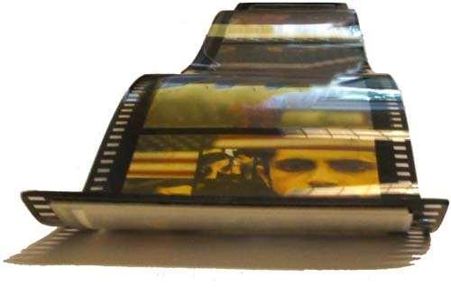 Bild på en bit film från en filmrulle