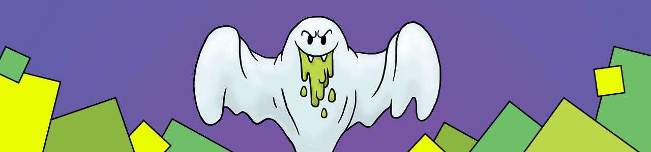 Bild på ett spöke