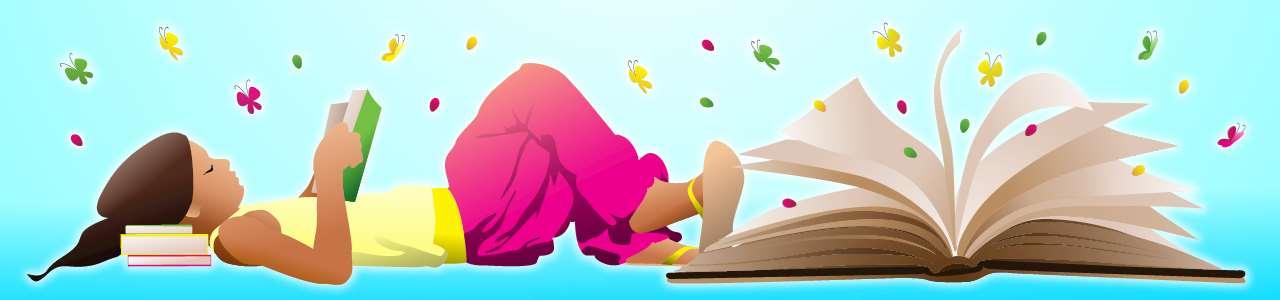 Bild på flicka som läser