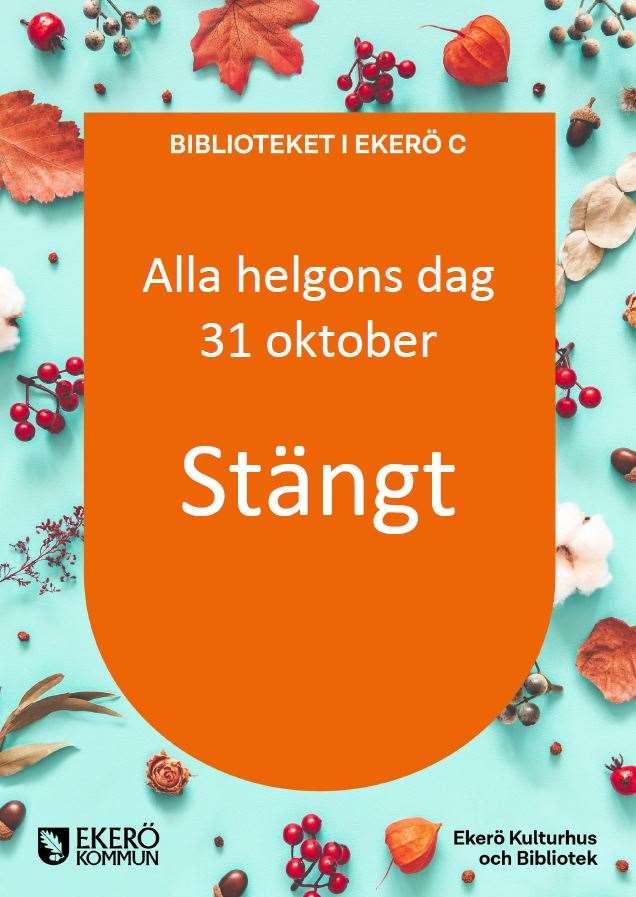 Biblioteket i Ekerö centrum stängt 31 oktober